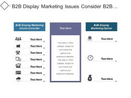 B2b Display Marketing Issues Consider B2b Display Marketing Options Cpb
