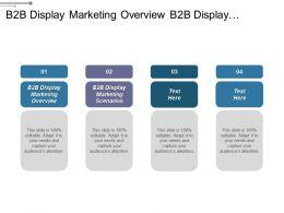 B2b Display Marketing Overview B2b Display Marketing Scenarios Cpb