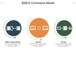 B2B E Commerce Model Ppt Powerpoint Presentation Gallery Show Cpb
