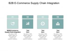 B2B E Commerce Supply ChAIn Integration Ppt Powerpoint Infographics Clipart Images Cpb
