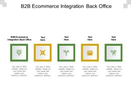 B2B Ecommerce Integration Back Office Ppt Powerpoint Presentation Infographic Template Graphics Cpb