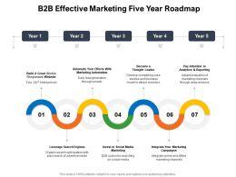 B2B Effective Marketing Five Year Roadmap