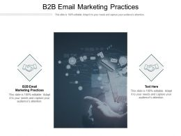 B2B Email Marketing Practices Ppt Powerpoint Presentation Diagram Graph Charts Cpb