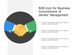 B2B Icon for Business Commitment of Vendor Management
