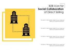 B2B Icon for Social Collaboration of Direct Selling