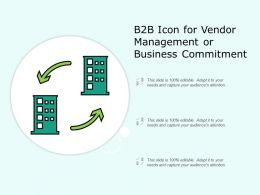 B2B Icon for Vendor Management or Business Commitment