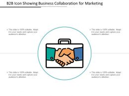 B2B Icon Showing Business Collaboration for Marketing