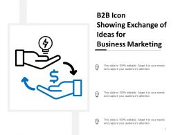 B2B Icon Showing Exchange of Ideas for Business Marketing