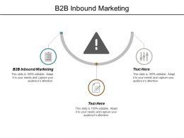 B2b Inbound Marketing Ppt Powerpoint Presentation Outline Slides Cpb