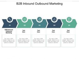 B2B Inbound Outbound Marketing Ppt Powerpoint Presentation Pictures Example Cpb