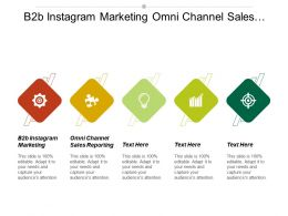 B2b Instagram Marketing Omni Channel Sales Reporting Projecting Revenue