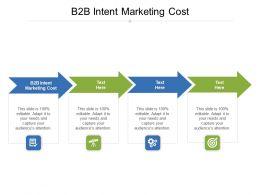 B2B Intent Marketing Cost Ppt Powerpoint Presentation Ideas Samples Cpb