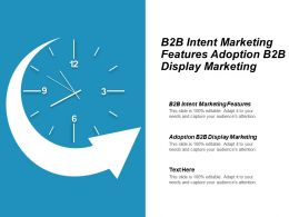 B2b Intent Marketing Features Adoption B2b Display Marketing Cpb