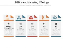 B2B Intent Marketing Offerings Ppt Powerpoint Presentation Layouts Display Cpb
