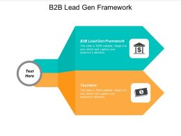 B2B Lead Gen Framework Ppt Powerpoint Presentation Pictures Model Cpb