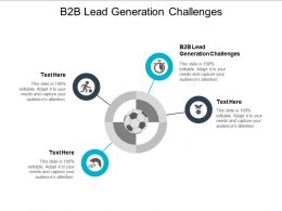 B2B Lead Generation Challenges Ppt Powerpoint Presentation Icon Display Cpb