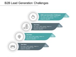 B2B Lead Generation Challenges Ppt Powerpoint Presentation Layouts Design Inspiration Cpb