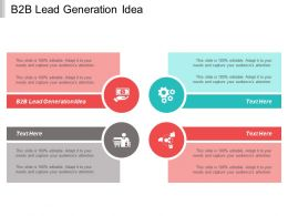 B2B Lead Generation Idea Ppt Powerpoint Presentation Pictures Clipart Images Cpb
