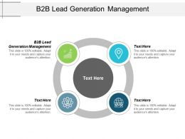 B2b Lead Generation Management Ppt Powerpoint Presentation Professional Cpb