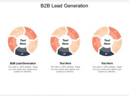 B2B Lead Generation Ppt Powerpoint Presentation File Graphics Cpb