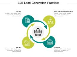 B2B Lead Generation Practices Ppt Powerpoint Presentation Ideas Show Cpb