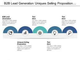 B2b Lead Generation Unique Selling Proposition Traditional Marketing Cpb