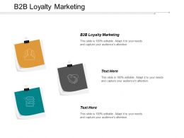 B2B Loyalty Marketing Ppt Powerpoint Presentation Infographic Template Display Cpb