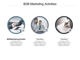 B2B Marketing Activities Ppt Powerpoint Presentation Inspiration Example Cpb