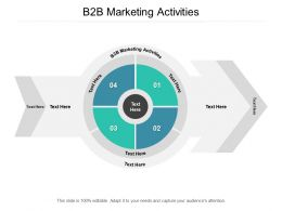 B2B Marketing Activities Ppt Powerpoint Presentation Model Guidelines Cpb