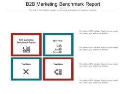B2B Marketing Benchmark Report Ppt Powerpoint Presentation Layouts Rules Cpb