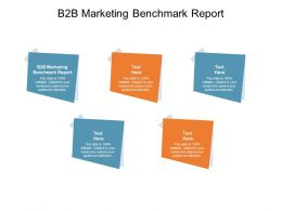B2B Marketing Benchmark Report Ppt Powerpoint Presentation Slides Cpb