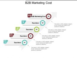 B2B Marketing Cost Ppt Powerpoint Presentation File Portfolio Cpb