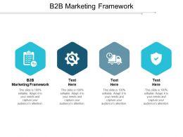B2B Marketing Framework Ppt Powerpoint Presentation File Information Cpb