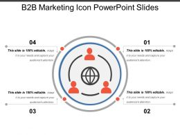 B2b Marketing Icon Powerpoint Slides