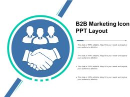 B2b Marketing Icon Ppt Layout