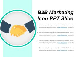 B2b Marketing Icon Ppt Slide