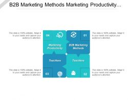 B2b Marketing Methods Marketing Productivity Project Stakeholder Cpb