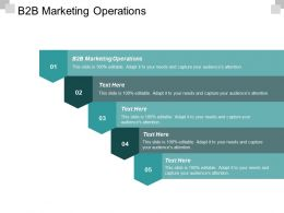 B2B Marketing Operations Ppt Powerpoint Presentation Pictures Graphics Example Cpb