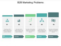 B2B Marketing Problems Ppt Powerpoint Presentation Model Aids Cpb