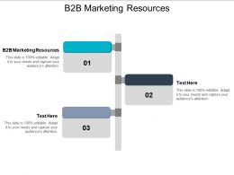 B2B Marketing Resources Ppt Powerpoint Presentation Gallery Background Image Cpb
