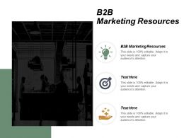 B2B Marketing Resources Ppt Powerpoint Presentation Gallery Model Cpb