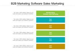 B2B Marketing Software Sales Marketing Ppt Powerpoint Presentation Visual Aids Layouts Cpb