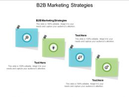 B2B Marketing Strategies Ppt Powerpoint Presentation File Design Inspiration Cpb