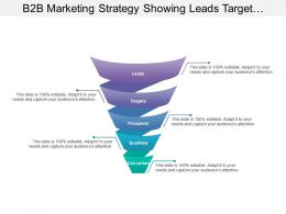 B2b Marketing Strategy Showing Leads Target Prospects Qualified