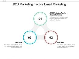 B2B Marketing Tactics Email Marketing Ppt Powerpoint Presentation Infographic Template Objects Cpb