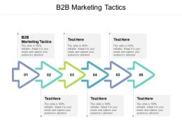 B2B Marketing Tactics Ppt Powerpoint Presentation Ideas Cpb