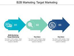 B2B Marketing Target Marketing Ppt Powerpoint Presentation File Icon Cpb