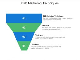 B2B Marketing Techniques Ppt Powerpoint Presentation Model Pictures Cpb