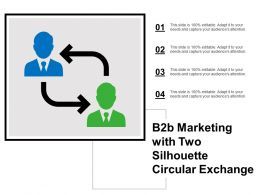 B2b Marketing With Two Silhouette Circular Exchange