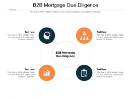 B2B Mortgage Due Diligence Ppt Powerpoint Presentation Layouts Design Inspiration Cpb